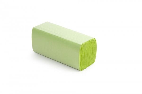 Papierhandtuch grün, ZZ/V-Falz, 2-lagig
