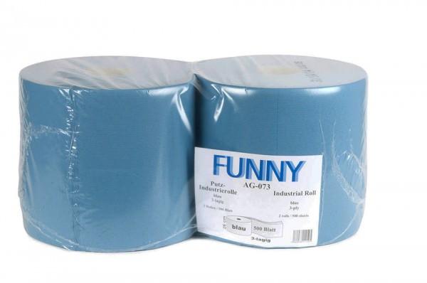 Putzpapierrolle, 3-lagig, blau, 26x38cm