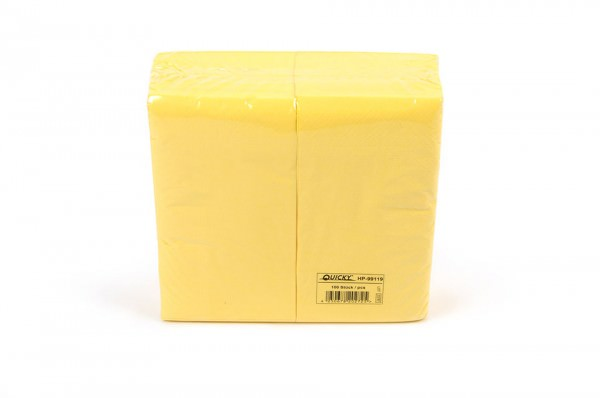 Zelltuchserviette gelb, 1/8 Falz, 40x40cm