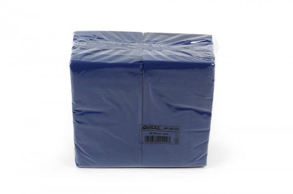 Zelltuchserviette blau, 1/8 Falz, 33x33cm