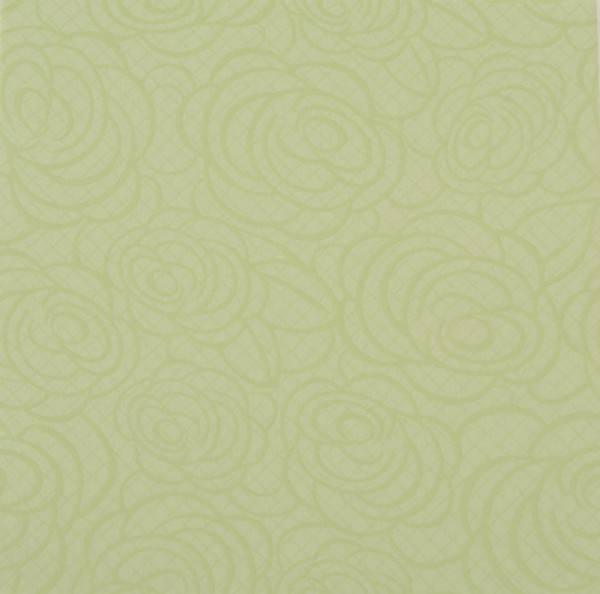 Airlaid-Motivserviette ROSES hellgrün