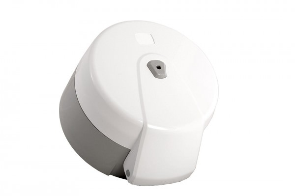 Jumbotoilettenpapier Spender, weiß, Kunststoff