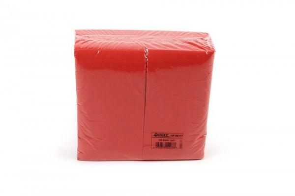 Zelltuchserviette rot, 1/8 Falz, 40x40cm