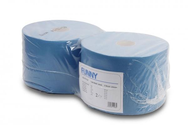 Putzpapierrolle, 2-lagig, blau, 21x33cm