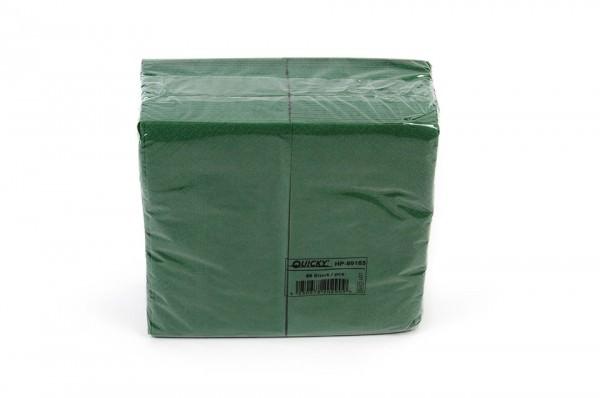 Zelltuchserviette grün, 1/8 Falz, 33x33cm