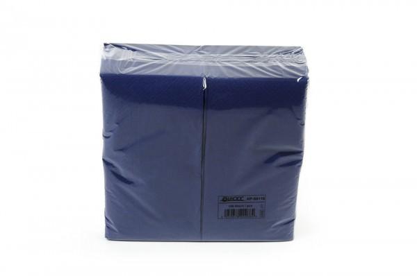 Zelltuchserviette blau, 1/8 Falz, 40x40cm