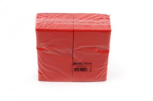 Zelltuchserviette rot, 1/8 Falz, 33x33cm