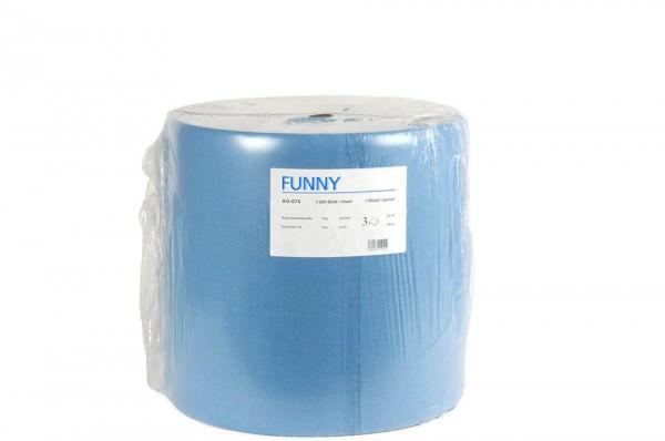 Putzpapierrolle, 3-lagig, blau, 36x34cm
