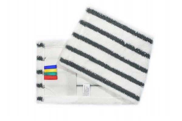 Mikrofaser Wischmopp mit Borsten, weiß-grau, 50cm