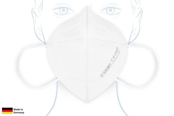 FFP2 Maske - Made in Germany, CE-zertifiziert, weiß, 10 Stück - in Deutschland hergestellt
