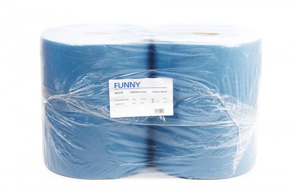 Putzpapierrolle, blau, 2-lagig, 36x34cm