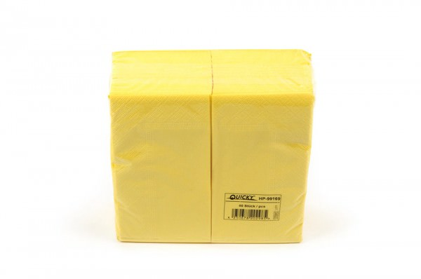 Zelltuchserviette gelb