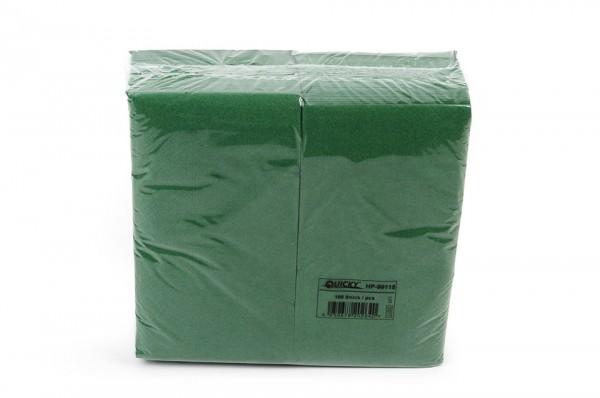 Zelltuchserviette grün, 1/8 Falz, 40x40cm