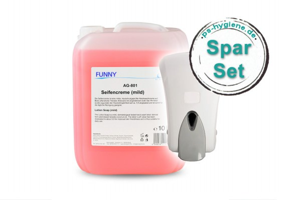 Seifenspender-Set mit 10 Liter Seifencreme
